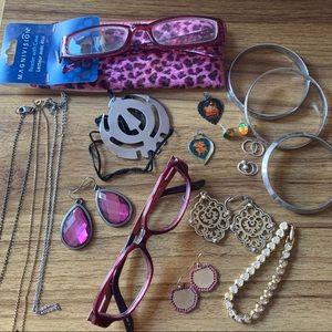 Big Jewelery Lot necklaces earrings bracelets